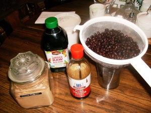 Black bean pudding ingredientsBlack bean pudding ingredients
